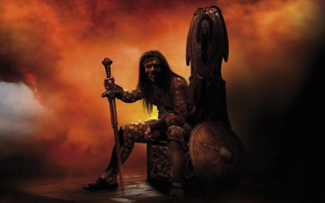 Reaper's Gale: cover art by Steve Stone, depicting Rhulad Sengar