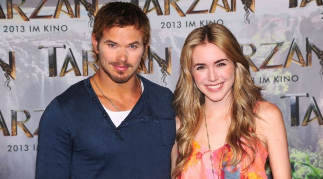 Kellan Lutz and Spencer Locke at the Munich press conference for Tarzan (2013)