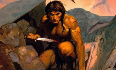 Tarzan, illustration by Brom.