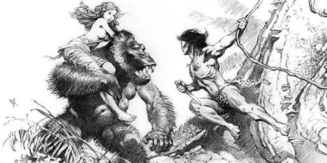 Tarzan sketch by Frank Frazetta