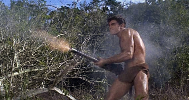 Mike Henry in the post-Bond Tarzan and the Valley of Gold (1966)